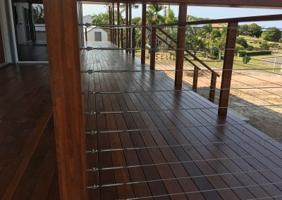 Solid Timber Deck and Stainless Steel Balustrade River Heads