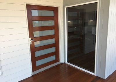 Timber and Glass Entrance Door River Heads